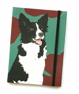 Border Collie Design A6 Pocket Notepad  Notebook modern  sheepdog farming Gift