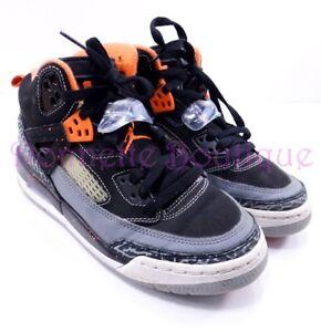 promo code 1b7a2 0ea0e Image is loading Nike-Air-Jordan-Spizike-Black-Grey-Electric-Orange-