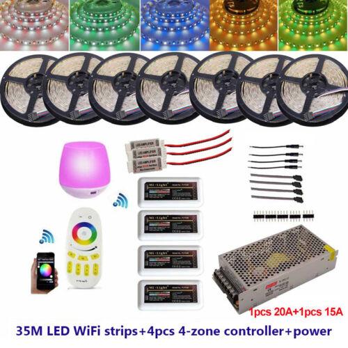 Remote Controller+12V LED Power 20M 25M 30M 40M 5050 RGBW  WIFI Timer Led Strip