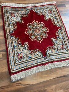 ✔ Kirman   90 x 93   Handgeknüpft   Orientteppich   Carpet   Rug