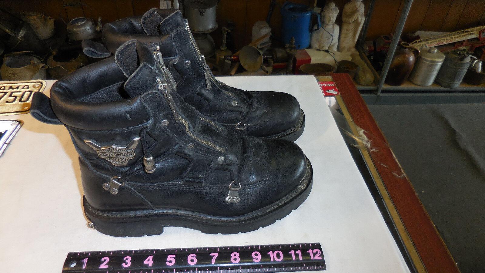Harley-Davidson ® para hombres 10  Negro Cuero Moto botas de luz Brake 91680