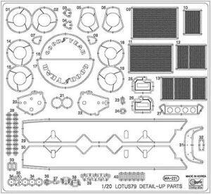 Hasegawa-1-24-aguafuerte-Partes-Para-Lotus-79-qg43