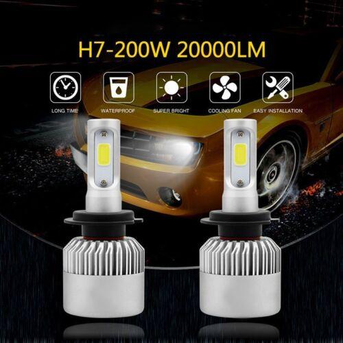 H1//H4//H7 200W 20000LM LED Lamp Headlight Kit Car Beam Bulbs 6000K UK