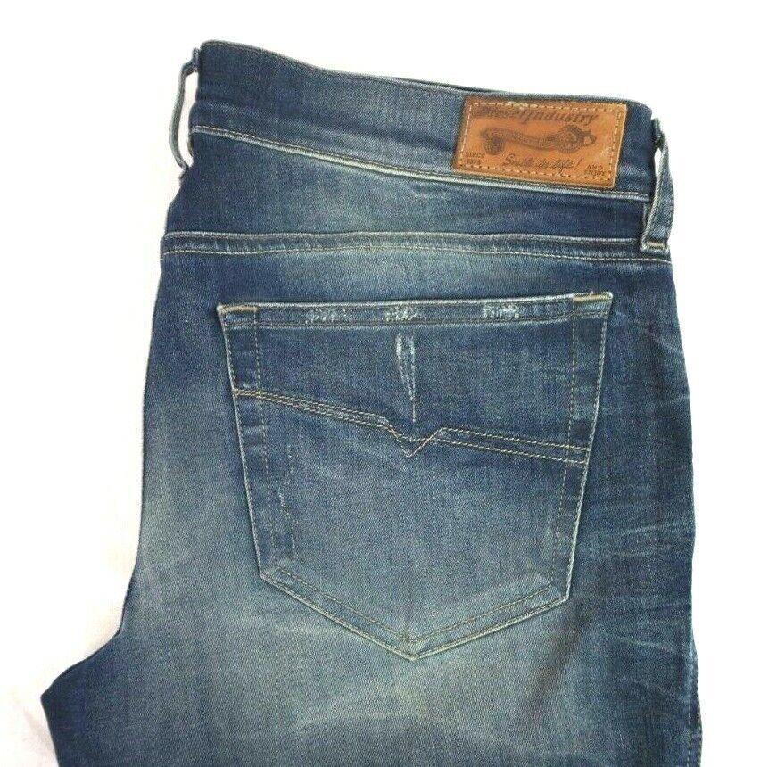 NWT DIESEL Women's Dark Wash Grupee Destructed Super Slim Skinny Jeans 30 x 32
