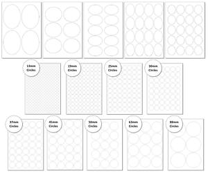 Round Circle Labels On A4 SheetsMatt White Labels for Laser /& Inkjet Printers