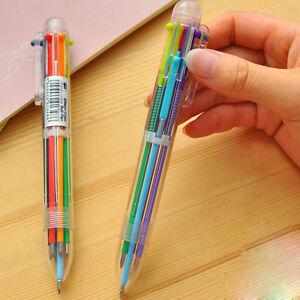 Neu-Cartoon-bunt-Stuffed-Bunte-Kinder-Schueler-Kugelschreiber-Bleistift-Farbig