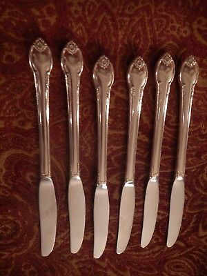Remembrance 1847 Rogers Silverplate set of 6 luncheon grille viand knives