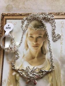 Details zu Herr der Ringe Arwens Abendstern Galadril Legolas Schönes Schmuckset