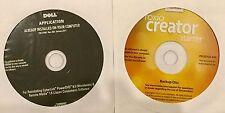 (2) DELL CD's - ROXIO CD CREATOR & CYBERLINK POWERDVD 9.5 SOFTWARE - SEALED !!