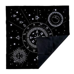 Constellation-Tarot-Table-Card-Cloth-Divination-Velvet-49cm-Black-Square