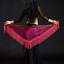 Belly-Dance-Costume-Sequins-Fringe-Triangle-Hip-Scarf-Belt-9-Colors miniature 6