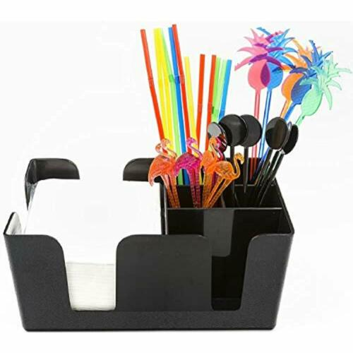 /&ndash Supplies Included All Set And Ready To Go Duty 6 Compartments Bar Caddy