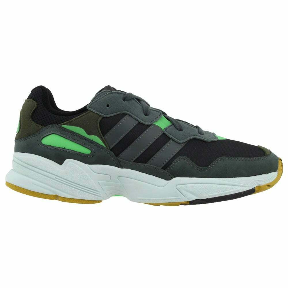 adidas Yung-96 Lace Up Mens Sneakers Shoes Casual - Black,Grey