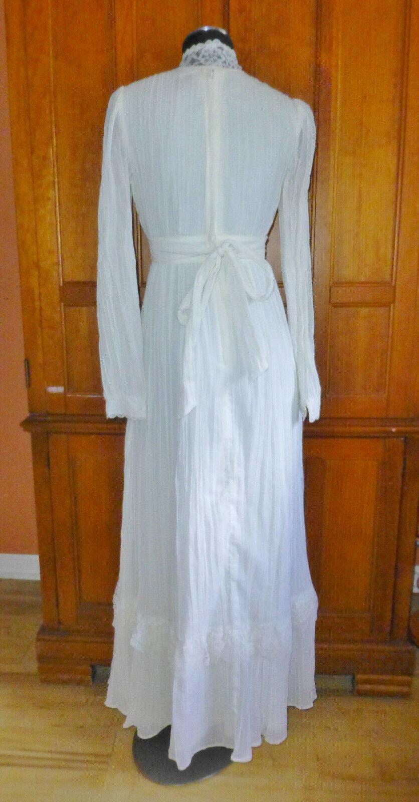 Vintage 70s GUNNE SAX Gauze Cotton Lace Prairie C… - image 8