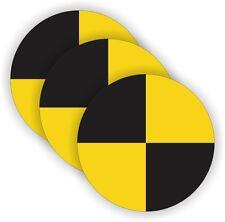 (3) Crash Test Dummy Hard Hat Stickers | Welding Motorcycle Helmet Decals CTD