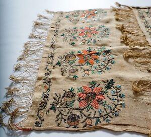 Linens & Textiles (pre-1930) Antiques Antique 19th Century Ottoman Turkish Armenian Yaglik Embroidery Textile