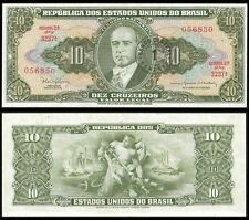 Brazil 1 Cent on 10 CRUZEIROS ND 1967 P 183b UNC
