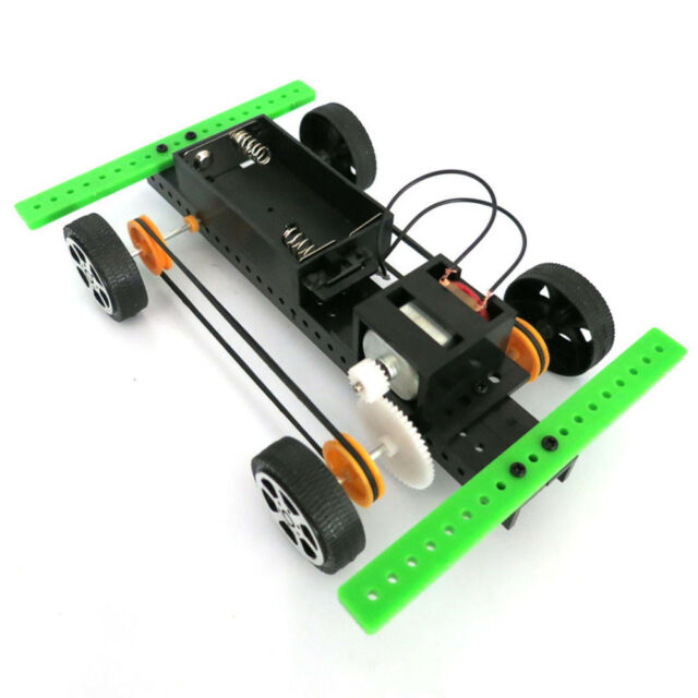 Mini Battery Power Car Assembly Diy Model Kit Development Toy