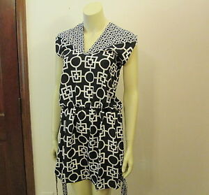 Black-White-3-Way-Dress-by-Mud-Pie-Beach-to-Bar-Size-Large-NWT