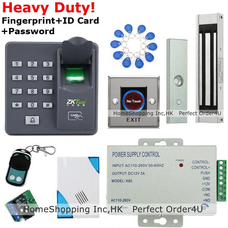 Nueva Tarjeta Rfid Huella Dactilar + + CONTRASEÑA Puerta Sistema De Control De Acceso + Cerradura de puerta magnética