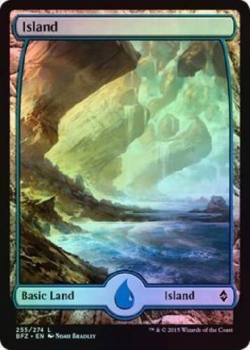 36x available Foil Island 255 Battle For Zendikar NM Free Shipping Magic MTG