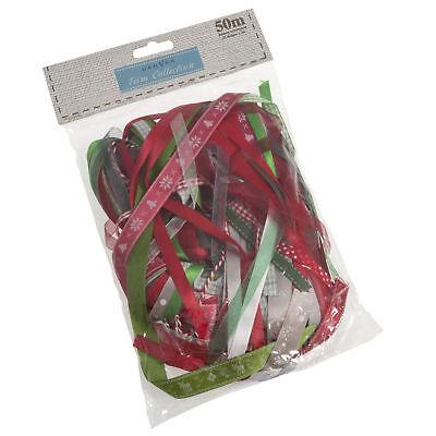 Openhartig 5x Mixed Ribbon Bag Christmas 50m Sewing Craft Tool Hobby Art Uk Bulk Filoro