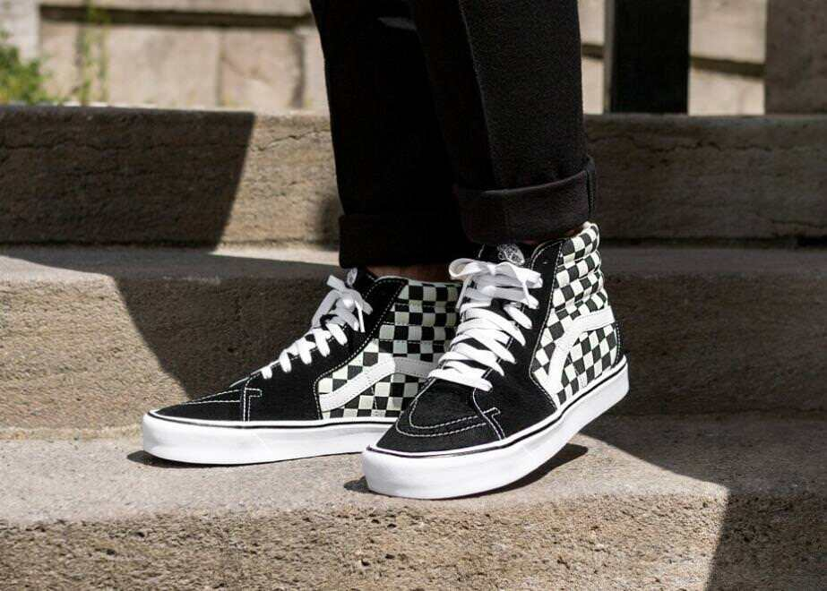 Vans Sk8-Hi Checker Board Checkers Black White