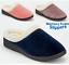 Ladies Memory Foam Warm Fleece Lined Cotton Slippers Slip On Clog Mules Shoes Sz