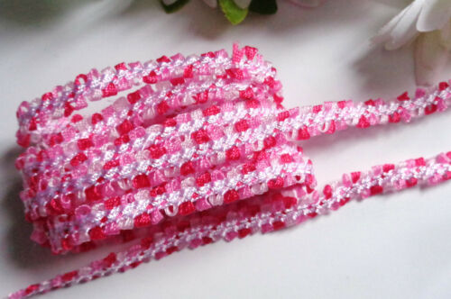 multicolor Ribbon Satin Braided Lace 3//8 inch wide    selling by the yard