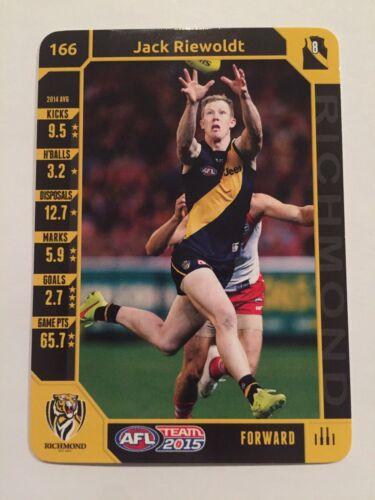 Richmond Tigers Jack Riewoldt AFL Team 2015 Football Card