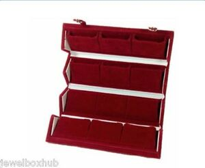 1 Earring Jewelry Storage Organizers Folder Box Velvet Coated