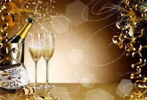 9x6ft Luxury New Years Eve Celebration Photography Background