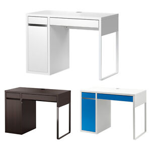 IKEA MICKE DESK Drawer Computer Desk Home Office Workstation 2 Colours