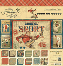 Graphic 45  2 sheets Good ol/' sport collection double sided number 1 fan