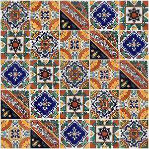 40 PCS Talavera 6X6 Handmade Ceramic Tile Mexican 502 | eBay