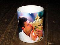 Novak Djokovic  Wimbledon 2014 Tennis Trophy Kiss MUG