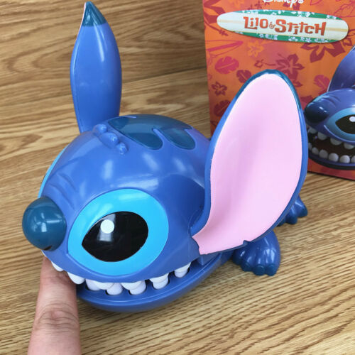 Disney Lilo and Stitch Big Mouth Bite Finger Game Figure Key Chain Holder Toy