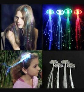 High quality led colour flash light up stylish fibre braid hair image is loading high quality led colour flash light up stylish pmusecretfo Choice Image