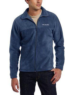 COLUMBIA Mens Sz XL Steens Mountain 2.0 Full Zip Fleece Jacket Blue Charcoal Red