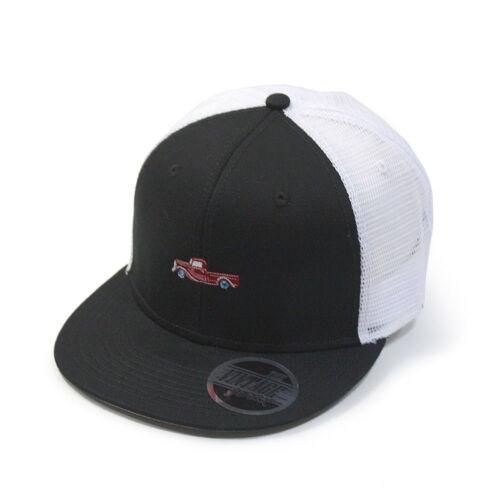 Embroidered Cotton Twill Flat Brim Mesh Adjustable Snapback Trucker Baseball Cap