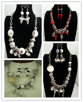 Fashion Charm Costume Jewelry Mixed Style Earring Necklace Set