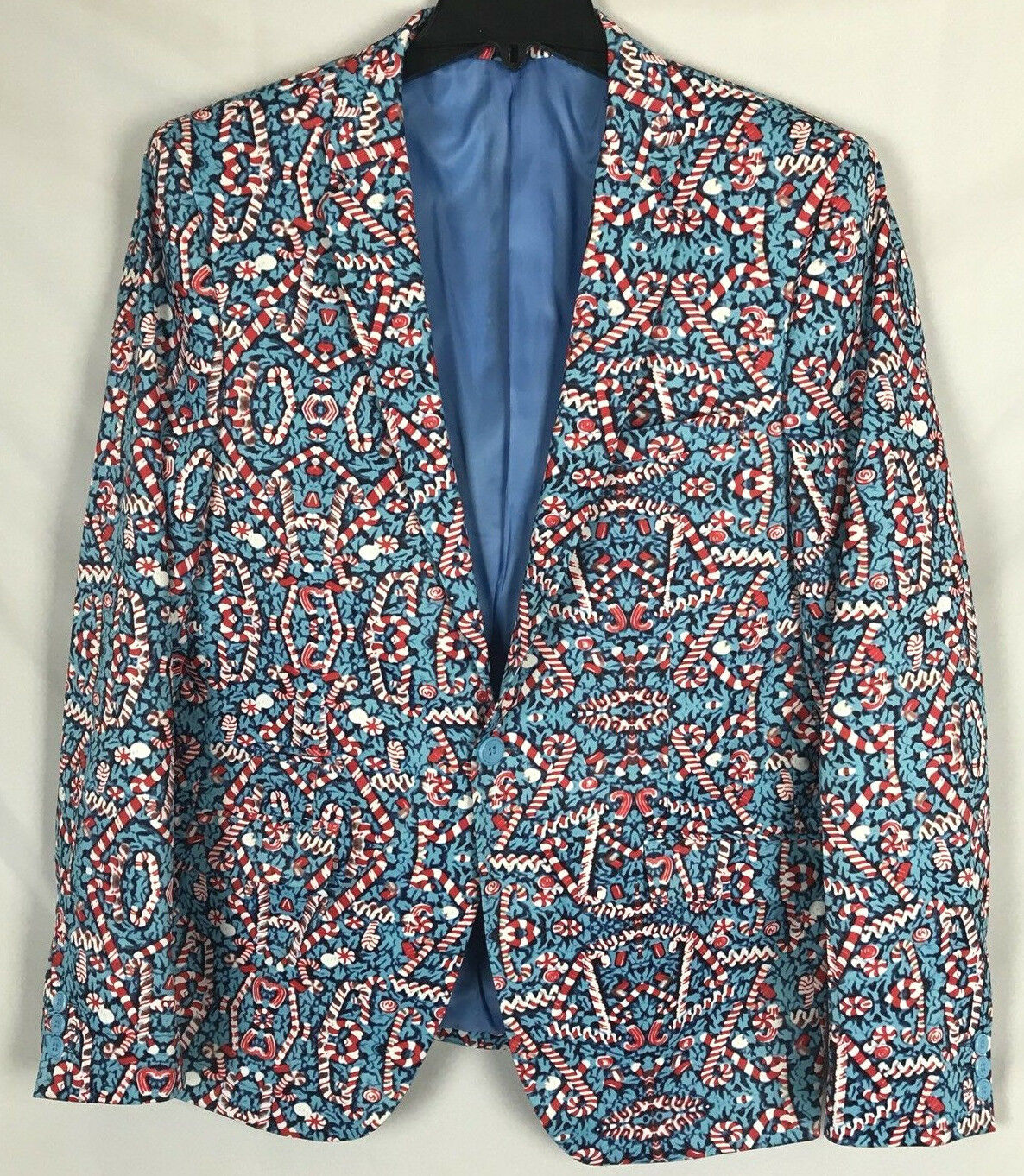 Suslo Couture Christmas Candy Cane Blazer Sport Coat NWT Ugly Sweater S(38) M(40