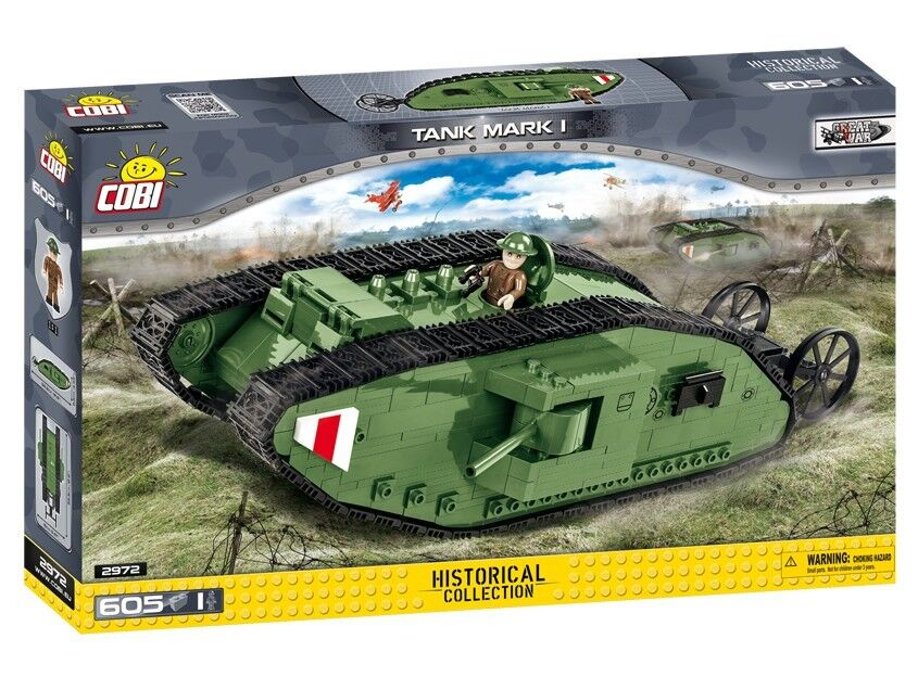 COBI Tank Mark I (1) SET(605 Pcs.) NEW, US SELLER, WWI, Great War, Tanks