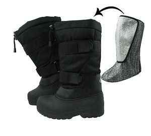 Kälteschutzstiefel Thermostiefel Snow Boots Apres Ski Stiefel Snowboots  Schwarz
