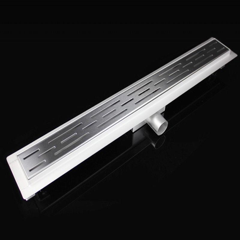 FLACH 54mm DUSCHRINNE LINEARER ABFLUSS BODENABLAUF BODEN DUSCHABLAUF █▬█ █ ▀█▀