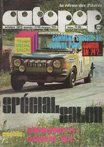Autopop 26 1973 Bmw 2002 Ti Gr1 Peugeot 104 Andre Fontana Mini Cooper 180ch Cadeau IdéAl Pour Toutes Les Occasions
