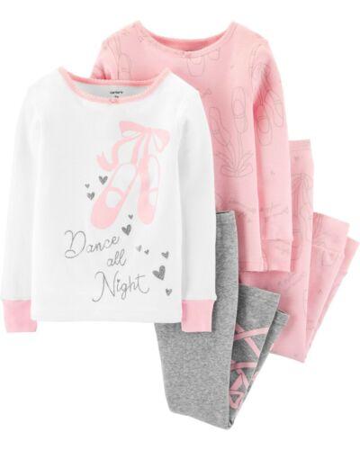 NWT Carter/'s Sz  4T or 5T Girl 4 Piece Ballet Girls Cotton PJs  Pajamas Dance