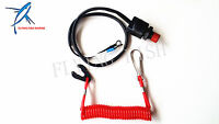 For Yamaha / Tohatsu Boat Motor Kill Stop Switch & Safety Tether Lanyard