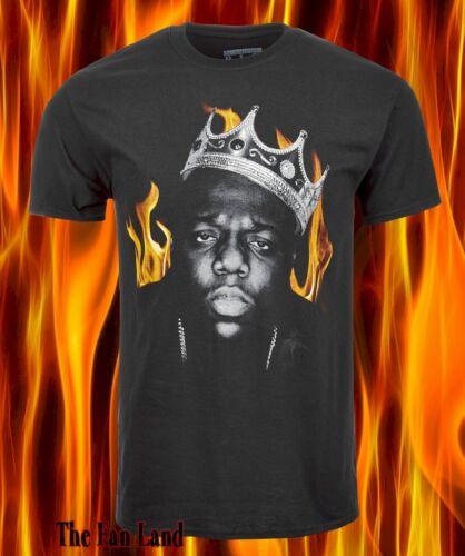 New Notorious B.I.G Biggie Smalls King Flames Mens Vintage T-Shirt