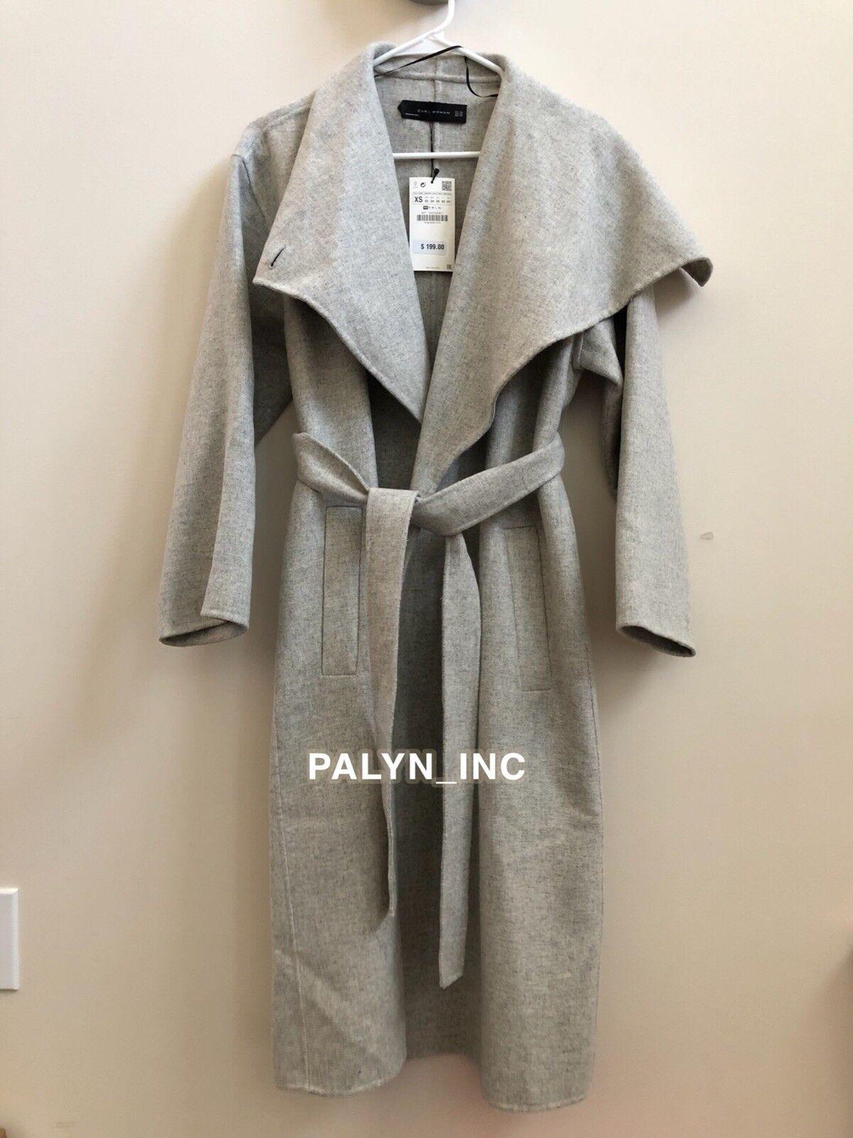 Nwt Zara Hellgrau Wolle Mantel mit Wraparound Kragen 7522 7522 7522 042 _ Xs S   | Verschiedene Stile  | Bequeme Berührung  | Geeignet für Farbe  | Verkaufspreis  | Zarte  bb4e67